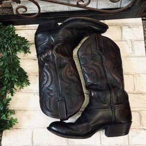 Tony lama classic leather boot Sz 8 EE